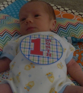 Finn One Month Old