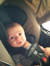 """""""I told you to change my diaper before putting me in the car seat!"""""""