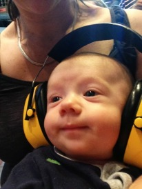 There was lots of music so we needed to protect his little ears!