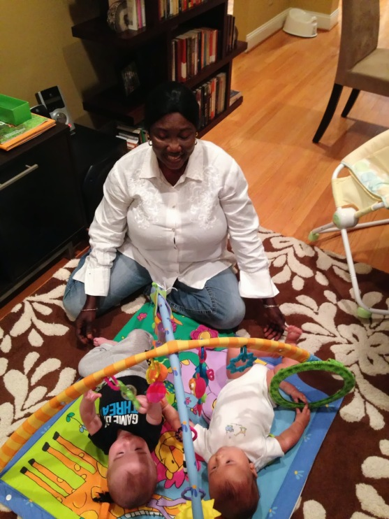Mariatu on Finn's first day in the nanny share.