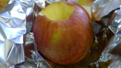 Baking off some apples for Finn.